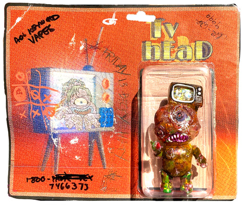 Phobia Toys Binbizii tV hEaD customized by AEQEA w/ unauthorized crappy cardback