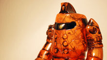 Load image into Gallery viewer, RealxHead Bigaroid Mecha Kaiju Sofubi Super7 Transparent Orange Black Painted Soft Vinyl Figure
