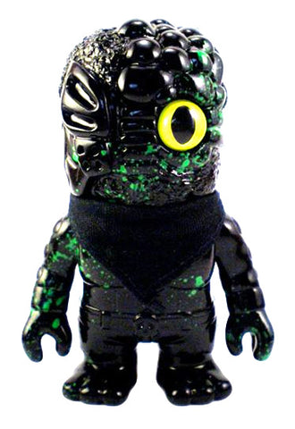 RealxHead Mini Mutant Chaos Man Green Splatter Black Sofubi Kai-Zine Exclusive Soft Vinyl Toy