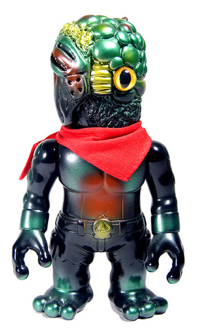 RealxHead Chaosman Sofubi Junkspot Japan Exclusive Green Black Metallic Soft Vinyl Designer Toy Figure