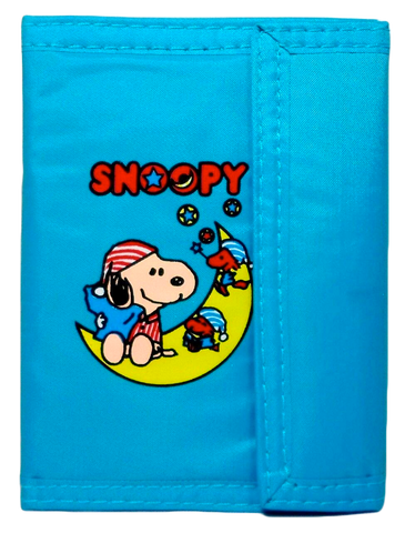 Vintage Bootleg Snoopy Wallet Billfold Blue Knockoff Upside-down Off-Print