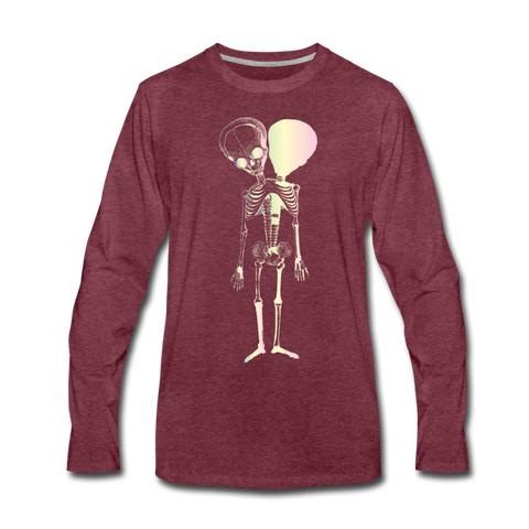 Polycephal Pals Premium Long Sleeve T-Shirt - heather burgundy