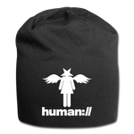 human://Starhead Jersey Beanie Winter Hat - black
