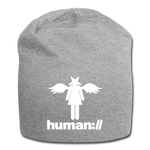 human://Starhead Jersey Beanie Winter Hat - heather gray