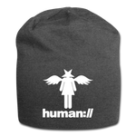 human://Starhead Jersey Beanie Winter Hat - charcoal gray