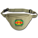 Grocery Coupons Fanny Pack - khaki