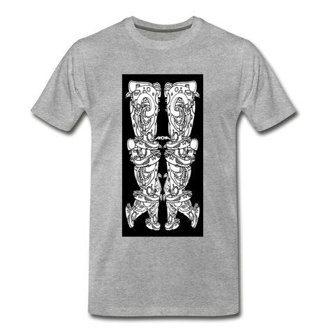 Dancing Locusts or Toroidal Tube T-Shirt - heather gray
