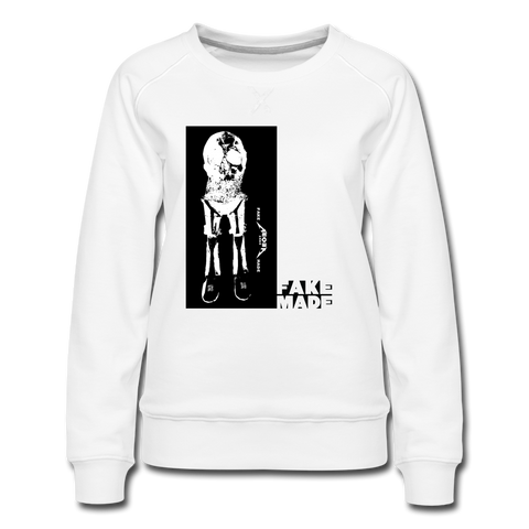 Sir Awkward Women's Sweatshirt in White - white