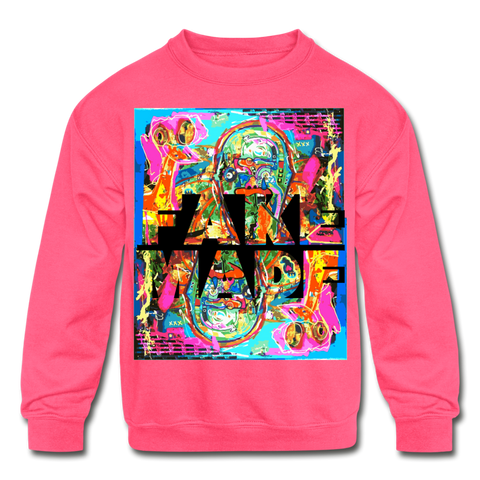Duck Trails Children Size Sweatshirt - neon pink
