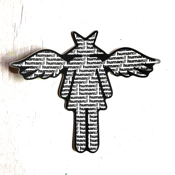 Human Supply Starhead Sticker Exiled Angel Street Art Edition