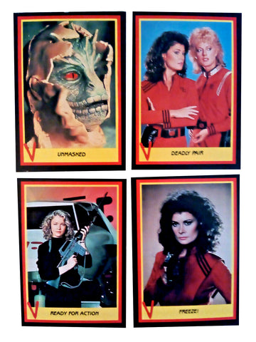 V The Series 1984 Fleer Visitors Complete 66 Trading Card Set