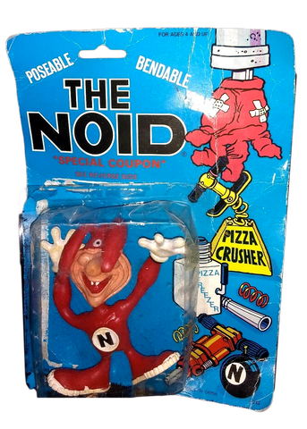 Vintage Domino's Pizza The Noid Bendy Toy Figure on Original 1988 Cardback