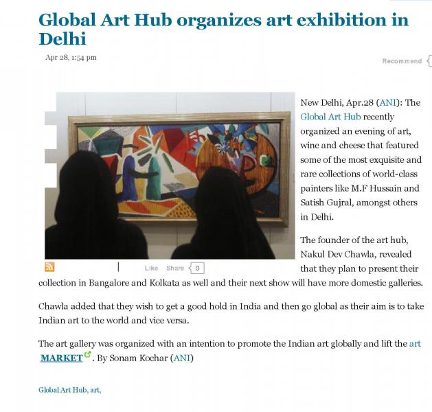 Global Art Hub Organizes art exhibition in New Delhi