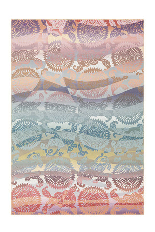 Design-Teppich Flash 2705 Multi Pastell Draufsicht