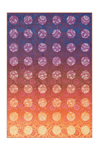 Design-Teppich Flash 2706 Violett / Orange Draufsicht