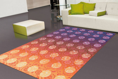 Design-Teppich Flash 2706 Violett / Orange Ambiente