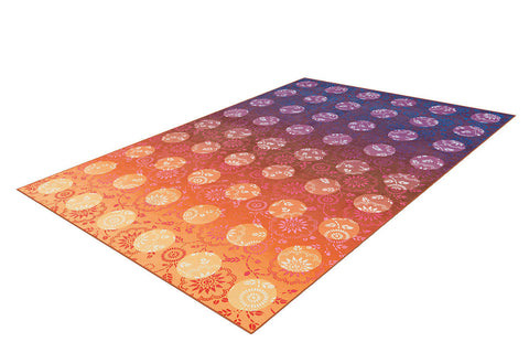 Design-Teppich Flash 2706 Violett / Orange Freigestellt