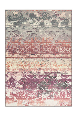 Design-Teppich Flash 2707 Multi / Rosa Draufsicht