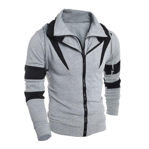 Men Retro Long Sleeve Hooded Overall Jacket-TheGymnist