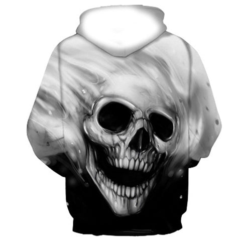 3D Melted Skull Hoody and Sweatshirts for Men