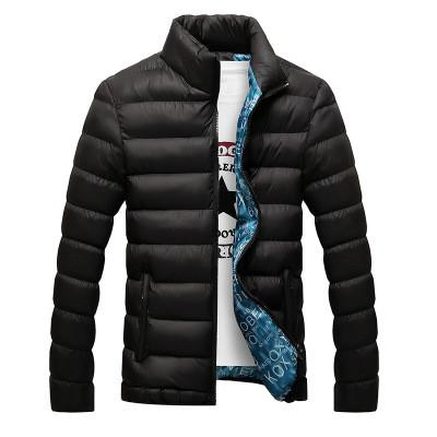 High Quality Black Autumn Winter Warm Outwear Solid Male Windbreak-TheGymnist