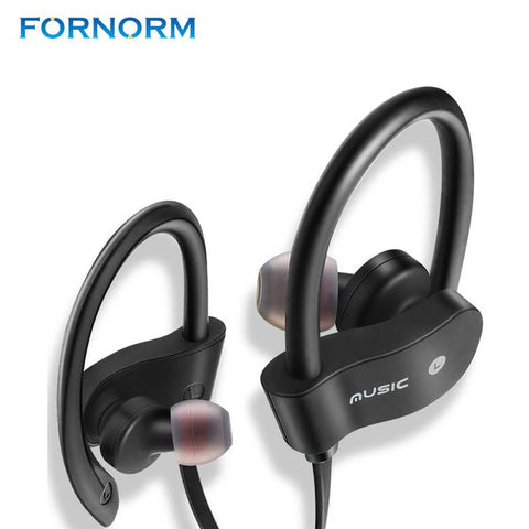 HQ Durable FORNORM Wireless Stereo Bluetooth Earphones with Mic For Gym and Workouts-TheGymnist