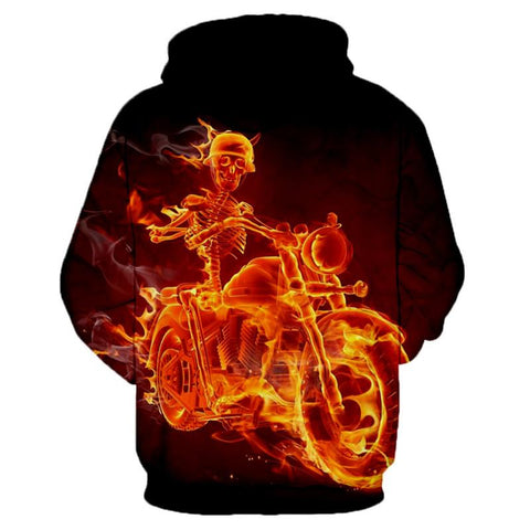 3D Ghost Rider Hoodie for Men-TheGymnist