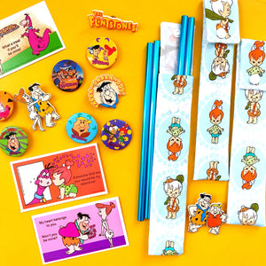 The Flintstones Reusable Straw, Pouch, and Mystery Badge Bundle - The Fun Impossible x QueenKewpiex Collab!