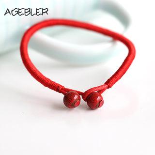 Double Beads Lucky Red Bracelet