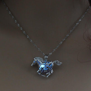 Horse Glow in the Dark Necklace
