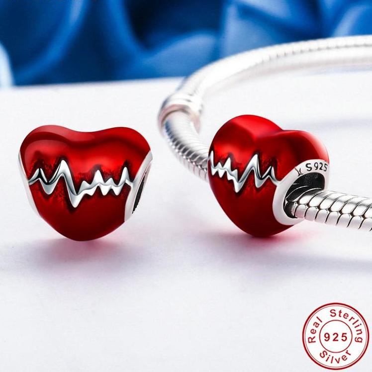 Red Love Heart Charms