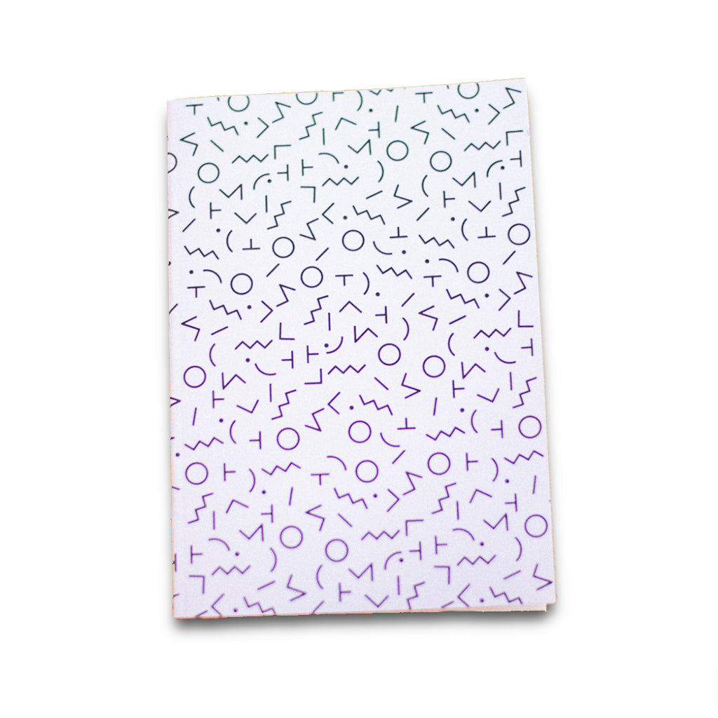 White and Black Doodles Notebook