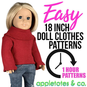 "Easy ""One-Hour"" 18 Inch Doll Clothes Patterns"