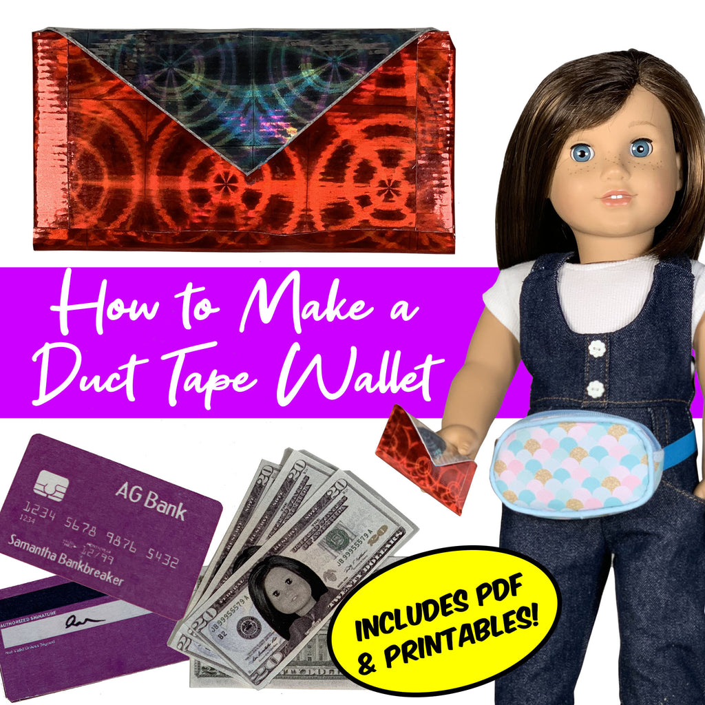 How to Make a DIY Duct Tape Wallet for 18 Inch Dolls