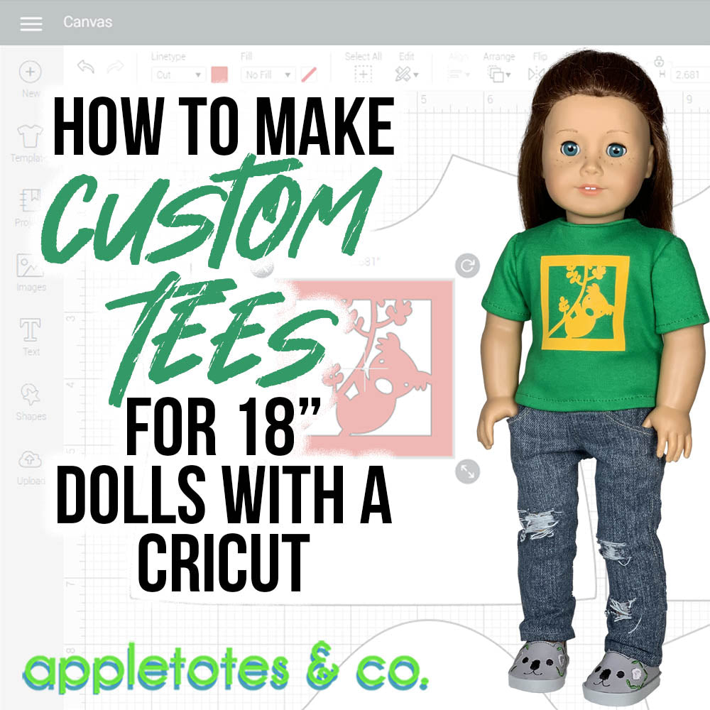 How to Make a Custom 18 Inch Doll T-Shirt with Cricut