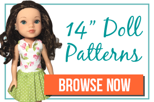 Sewing Patterns for 14 Inch Dolls - WellieWishers - Hearts for Hearts Dolls