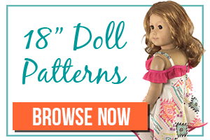 Sewing Patterns for 18 Inch Dolls like American Girl