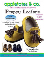 "preppy loafers 18"" doll sewing pattern"