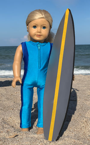 "surf suit sewing pattern for 18"" dolls"