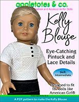"kelly blouse 18"" doll sewing pattern"