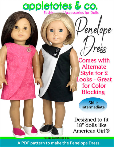 penelope dress 18 inch doll patterns
