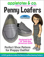 penny loafers 18 inch doll sewing patterns