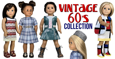 vintage 60's collection 18 inch doll sewing patterns
