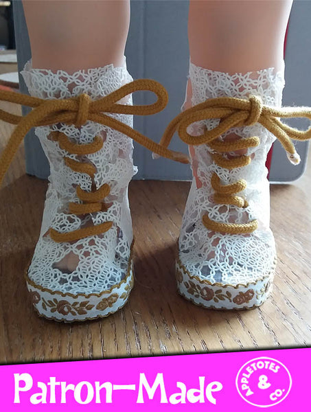 "Try the No-Sew Butterfly Boots 18"" Doll Pattern for 60% Off - Limited Time!"