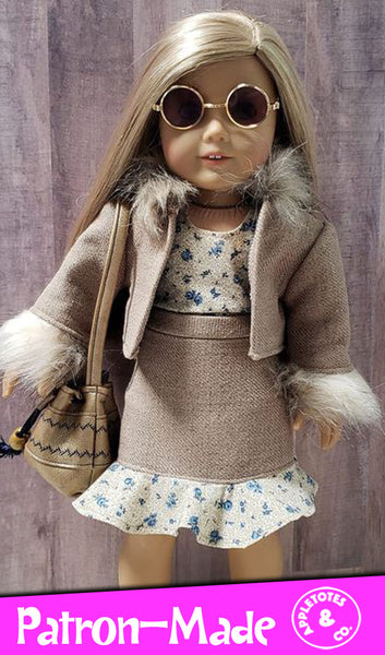 Parker Jacket 18 Inch Doll Sewing Pattern