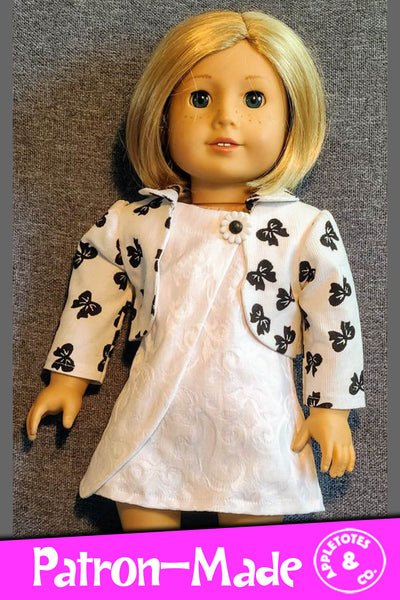 Penelope Dress Sewing Pattern for 18 Inch Dolls