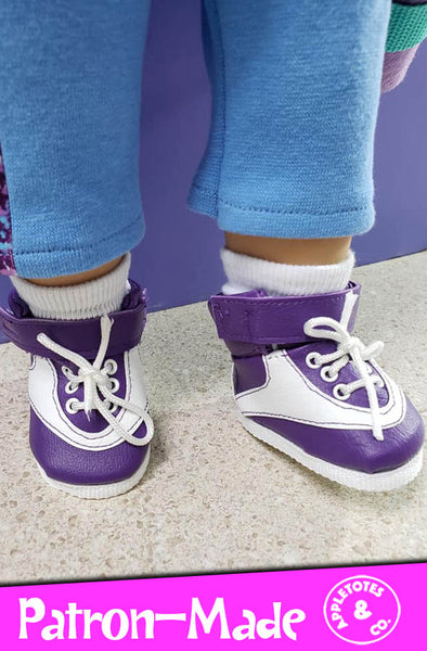 80s Hightop Sneakers 18 Inch Doll Sewing Pattern