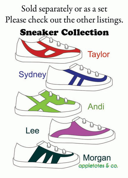 "Sydney Sneakers ITH Embroidery Patterns for 18"" Dolls"