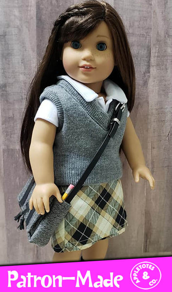 Free Sweater Vest Sewing Pattern for 18 Inch Dolls