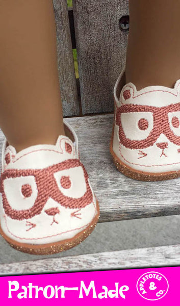 "Nerdy Hampster Flats ITH Embroidery Patterns for 18"" Dolls"
